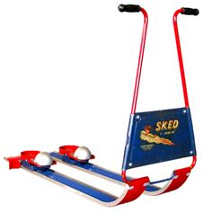 "SKED ""The Rocket Ski"" Children's Snow Ski c.1950's - why don't they make these any more?"