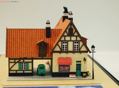N-scale paper model of the bakery from Kiki's Delivery Service.
