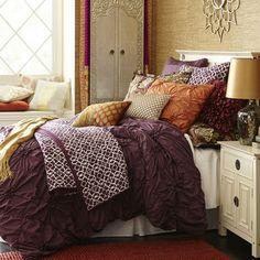 Savannah Bedding & Duvet - Plum