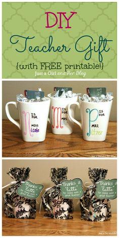 DIY Teacher Gift with FREE Printable