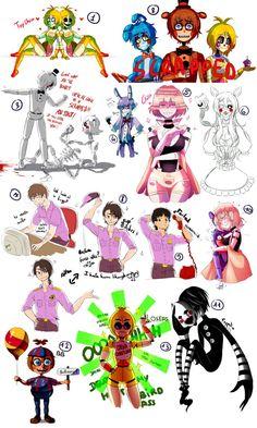 [Fnaf] Freddy sketches by YumeChii-NI on DeviantArt Fnaf Anime, Fnaf 4, Freddy S, Fnaf Drawings, Cool Drawings, Baby Puppet, Sketches Of Love, Fnaf Characters, Funtime Foxy