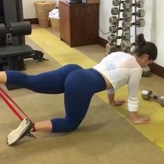 """6,015 Likes, 62 Comments - Get Up And Do It! (@girlyexercises) on Instagram: """"Resistant band booty workout by @noellebenepe """""""