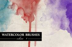 In this roundup we have put together 950 Photoshop brushes to help you create your own watercolor-styled designs.