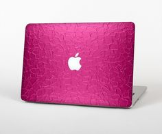 """The Stamped Pink Texture Skin Set for the Apple MacBook Pro 15"""" with Retina Display from Design Skinz"""