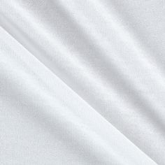 Tissue Rayon Jersey Knit White from @fabricdotcom  This fabric is perfect for creating stylish tops, tanks, lounge wear, gathered skirts and fuller dresses with a lining. This jersey knit fabric has a soft hand, a fluid drape and about 25% stretch across the grain.