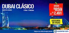 #CostamarTravel ¡Nuestra #oferta a #Dubai es tentadora! Incluye: - Asistencia telefónica 24 HORAS - Traslados - Desayuno Buffet Diario - Entrada a la Torre Burj Khalifa (piso 124) - Almuerzo en el 'Atlantis The Palm' - Guías locales en español. No válidos para feriados largos ni fechas festivas Programas regulares aplican para compras hasta 30 Setiembre. Viajes del 30 Setiembre al 11 Octubre & 17 al 30 Octubre. Salidas: Lunes, Miércoles y Viernes --> http://pe.costamar.com/