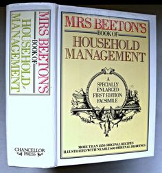 MRS BEETON'S  BOOK OF HOUSEHOLD MANAGEMENT, FACSIMILE Edition- 1861, 1987 Management Books, Book Title, Book Lists, Good Books, Household, Learning, Ebay, Studying, Teaching