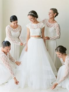 Two piece wedding dresses that'll definitely turn heads: http://www.stylemepretty.com/collection/2829/
