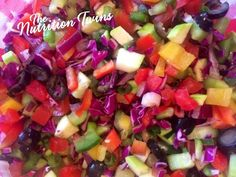 Colorful Detox Salad     Colorful Detox Salad | Only 34 Calories for Huge Portion | Great To Flush out Toxins & Bloat After Overdoing |For MORE Inspiration & RECIPES please SIGN UP for our FREE NEWSLETTER  www.NutritionTwin...