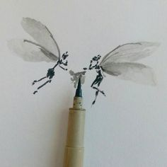 Little fairies #inktober #brush #doodle #art #illustration #drawing #draw #instaawesome #picture #artist #sketch #sketchbook #paper #pen #pencil #artsy #instaart #beautiful #instagood #gallery #tinkerbell #comicart #photooftheday #instaartist #graphic #graphics #artoftheday by soetamrizky