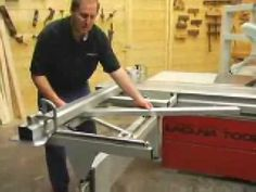 The Laguna Professional Series woodworking computerized panel saw features a massive 10.5-foot precision machined and anodized sliding table. (Part 1) Visit us at www.lagunatools.com