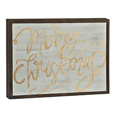 Merry Christmas Barn Wood Sign | Kirklands