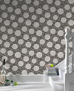 Graham & Brown - Flora : Black Wallpaper $48/roll