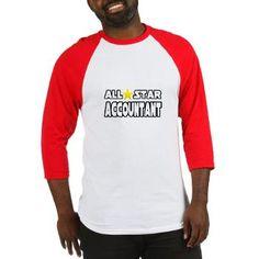 """All Star Accountant"" Baseball Jersey"