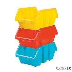 Medium Stackable Storage Bins, Storage, Teacher Resources, Teaching Supplies & Stationery - Oriental Trading