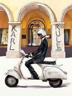 Karl Lagerfeld, Autumn Fashion 2018, Anna Wintour, Sketch Design, Unique Fashion, High Fashion, Supergirl, Illustrators, Illustration Art