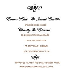 Wedding card sample in english wedding gallery pinterest wedding invitation wording from bride groom filmwisefo