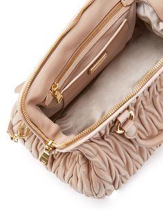 Miu Miu Matelassé Leather Medium Convertible Satchel ~ US$1,529 on (Original: US$1,920) on http://www.gilt.com/invite/feature