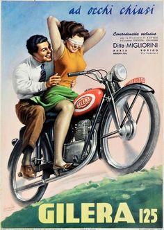 girlsandmachines:  Gino Boccasile - Gilera 125, 1949.