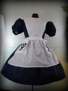 Gothic Lolita Dress, American McGee Alice Dress, Dark Alice in Wonderland--Custom Made--. $185.00, via Etsy.