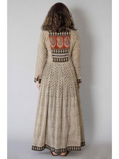 Description: It is a cotton block printed pleated dress with front button down. Length is Size Chart - XS - Chest : Waist : Hip : Shoulder : Kurti Neck Designs, Salwar Designs, Blouse Designs, Pakistani Dresses, Indian Dresses, Indian Outfits, Kurta Patterns, Dress Patterns, India Fashion
