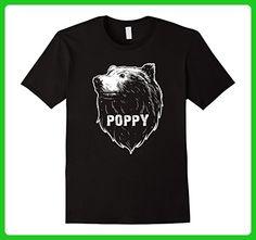 Mens Poppy Bear T-Shirt Gifts for Poppy Grandpa 2XL Black - Relatives and family shirts (*Amazon Partner-Link)