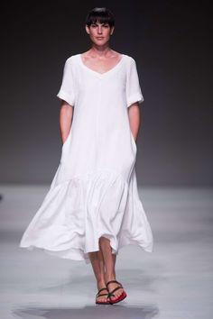 White Linen dress, Lunar SA Fashion Week Summer 2015 Collection | Lunar White Linen Dresses, Short Sleeve Dresses, Dresses With Sleeves, Ss 15, Summer 2015, Collection, Fashion, Jacaranda Trees, Gowns With Sleeves