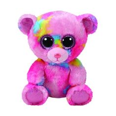 Franky The Multi-Colored Bear Medium is a big-eyed beanie boo that s perfect f7be3f45e65d