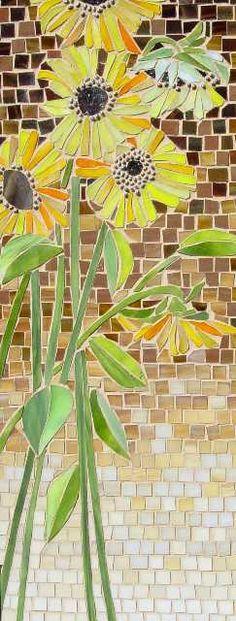 Sunflowers  Fran Stoval. #Mosaico #Mosaic # Tiles