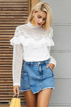 Madeline Sheer Lace Blouse