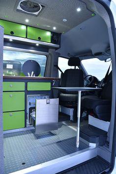 80 Travel Trailers Camper Interior Ideas for Full Time RV Living - ArchiteSpace 4x4 Camper Van, Camper Caravan, Popup Camper, Camper Life, Ford Van Conversion, Sprinter Van Conversion, Travel Trailer Interior, Camper Interior, Travel Trailers
