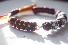 Lucky Stitched Solomon Bar Soccer Fan Bracelet FC by ROUGHLUCKSHOP