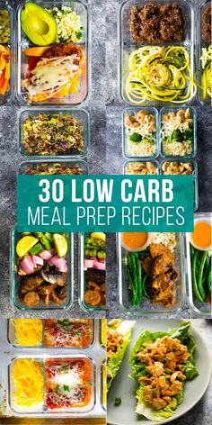 These low carb recipes you can meal prep have got you covered for breakfast, lunch, dinner and snacks! Veggie-heavy, with a solid source of protein and healthy fats to keep you full. #sweetpeasandsaffron #mealprep #lowcarb #lowcarbrecipe Slow Cooker Freezer Meals, Slow Cooker Recipes, Low Carb Recipes, Healthy Recipes, Low Carb Lunch, Lunch Meal Prep, Meal Prep Bowls, Make Ahead Meals, One Pot Meals