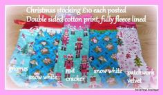 Selection of girls Christmas stockings - The Supermums Craft Fair
