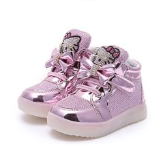 2016 New Baby Girls Boy LED Light Shoes Toddler Anti-Slip Sport Boots  Velcro Kids ab86dd3e2b02