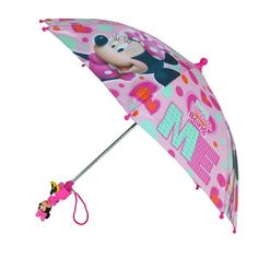 This adorable Minnie Mouse umbrella is perfect for the little Disney fan in your life. The lightweight body makes it easy to carry, and the pinch-proof runner protects their fingers from getting hurt.