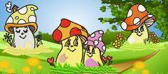 Happy mushrooms