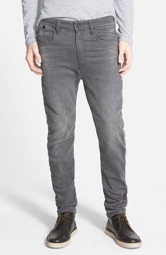 G-Star Raw 'Type C' Super Slim Skinny Fit Jeans (Slander Grey)