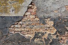 Oude vervallen muur