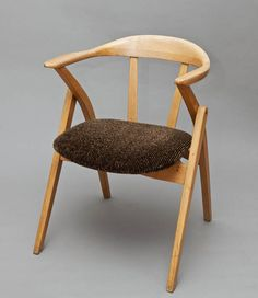 Marian Sigmund, upholstered bent armchair, produced by the Bifameg Bielsko Bent Furniture Factory in Jasienica, private collection, photo: Michał Korta Vintage Furniture, Cool Furniture, Furniture Design, Folding Furniture, Furniture Upholstery, Mid Century Style, Mid Century Design, Furniture Factory, Mid Century Modern Furniture