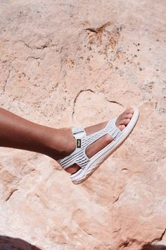 Outfitted with supple straps, the Terra-Float 2 Knit Universal is woven with cool-wearing, quick-drying knit. Featuring FloatLite™ technology, our new foam construction that's both ultralight and durable. (Photo by Evelynn Escobar-Thomas)