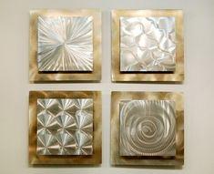 Silver & Gold Modern Metal Wall Sculpture - Contemporary Metal Wall Art - Home Decor - Wall Accent - 3D Art - Phenomena by Jon Allen