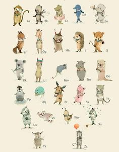 ABC Alphabet Poster -German ABC,   8x11 inches. $20.00, via Etsy.