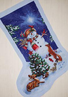 Маленький домик Паломы: Glistening Snowman Stocking или готовь сани летом-2.