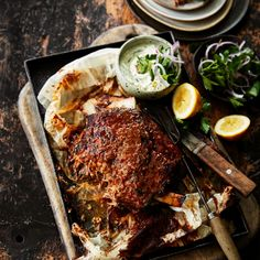 There's nothing better than a delicious Sunday night roast. This Slow Roasted Lamb Shoulder with Tzatziki is the perfect tender lamb recipe for a cool autumn night. Lamb Roast Recipe, Roast Recipes, Slow Cooker Recipes, Cooking Recipes, Healthy Recipes, Shoulder Of Lamb Recipes, Best Lamb Shoulder Recipe, Lamb Shoulder Chops, Slow Roast Lamb Shoulder