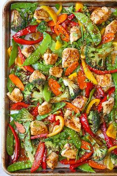 No fancy wok/skillet needed here for this sheet pan Asian stir fry recipe.