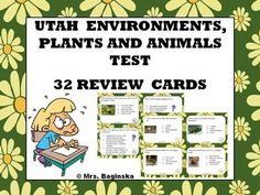 If you happen to be a 4th grade teacher in Utah, then this set is for you. It will help your students review the Utah environments unit before the state science test. $