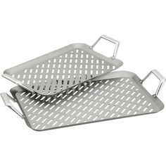 Stainless Steel Handled Grill Grids in 20% off Grilling Accessories   Crate and Barrel
