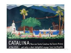 Catalina Island Travel Poster Giclee Print at AllPosters.com