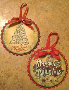 All That Glitters chipboard ornaments